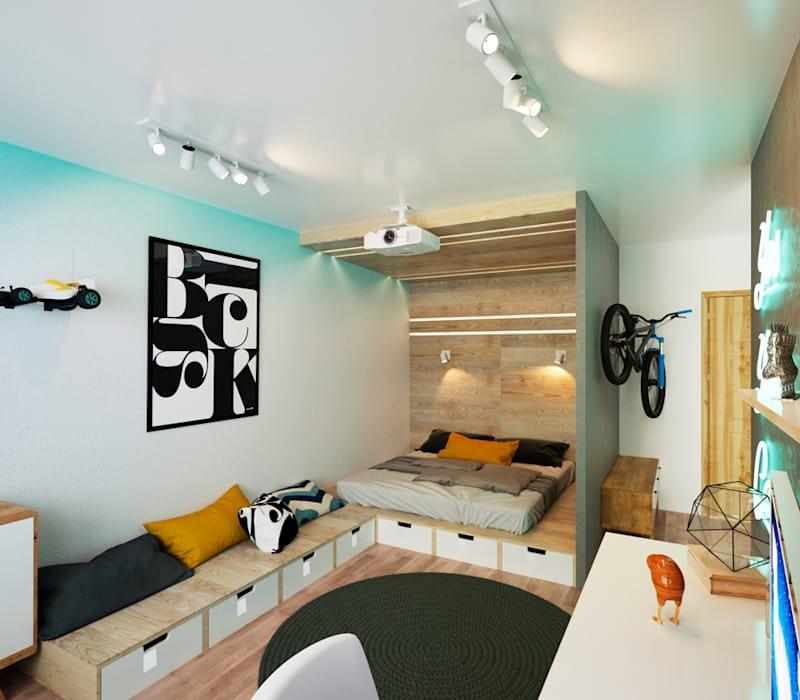 IK-architects의 침실