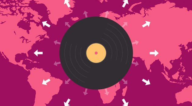 지난 40년 동안 음악 산업의 매출 동향