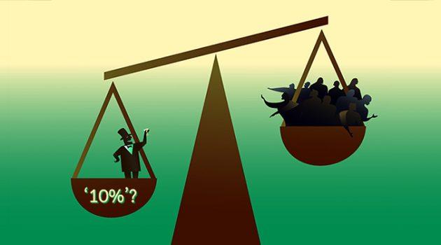 한국의 불평등, 상위 1%보다 상위 10%가 더 심하다