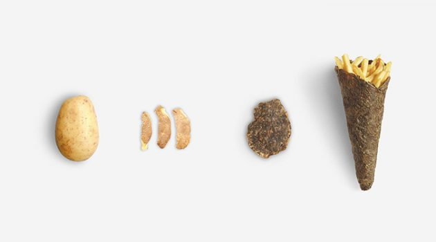 '종이 빨대'에 이어 '감자껍질 포장지' 등장?