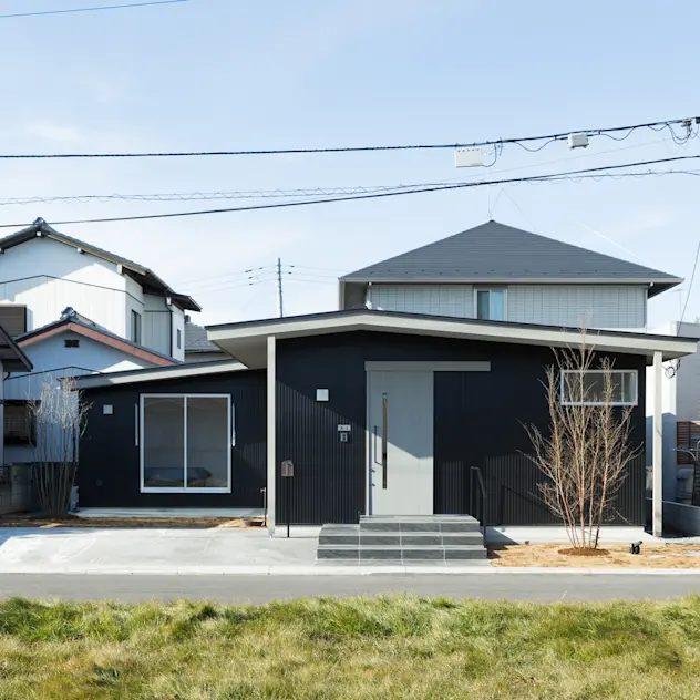 e do design 一級建築士事務所의 목조 주택