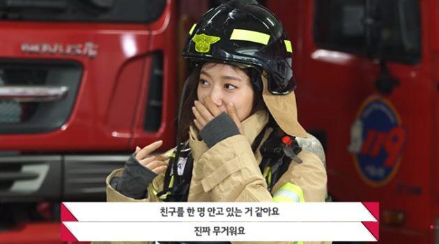 박신혜는 왜 LG전자와 함께 소방관에게 방화복 세탁기를 기증했을까?