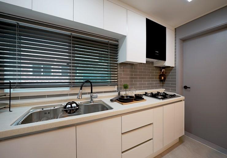 모던 인더스트리얼, 파주 빌라 프로젝트: 디자인 아버의 주방