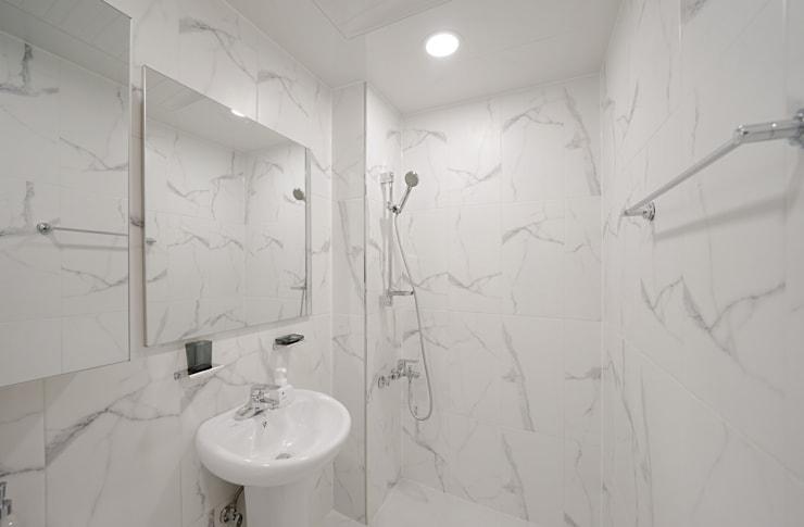 모던 인더스트리얼, 파주 빌라 프로젝트: 디자인 아버의 욕실