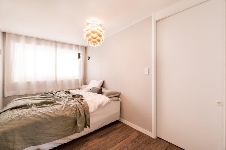 북유럽감성의 따뜻한 공간, 일산건영빌라: 봄디자인의 침실