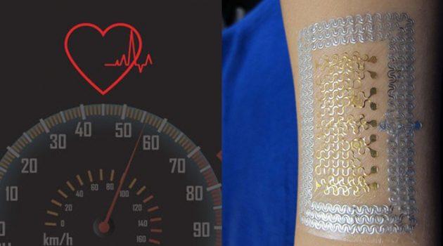 심장을 모니터링하는 전자 문신