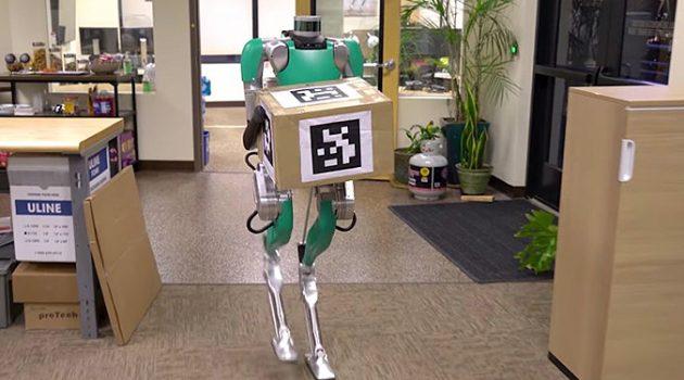 물건을 배달하는 이족 보행 로봇