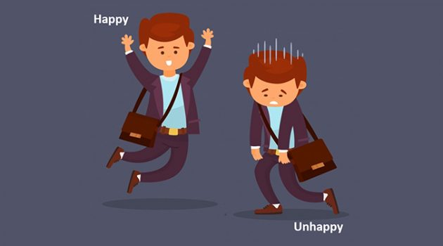 불행한 직장인 A, 행복한 직장인 B