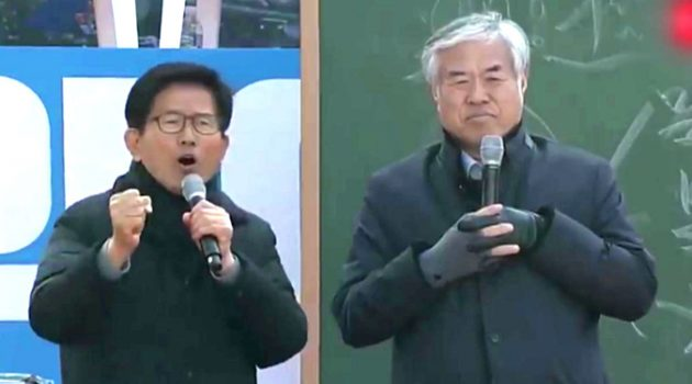 자가격리 동행 요구 경찰과 실랑이 벌인 김문수, '내가 국회의원 세 번 했어'