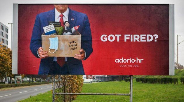 """""""해고되셨나요?"""" 구직 광고에 등장한 도널드 트럼프"""