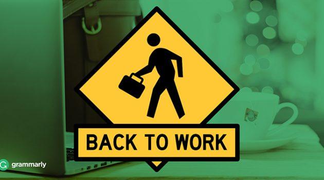 '직장에 복귀하다, 다시 일하러 가다'를 영어로 어떻게 표현하지?