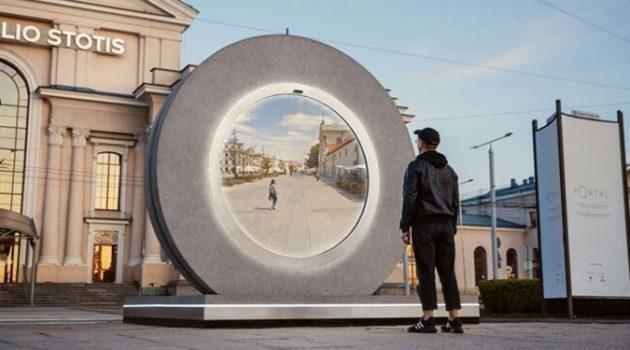 폴란드와 리투아니아에 등장한 대형 거울?